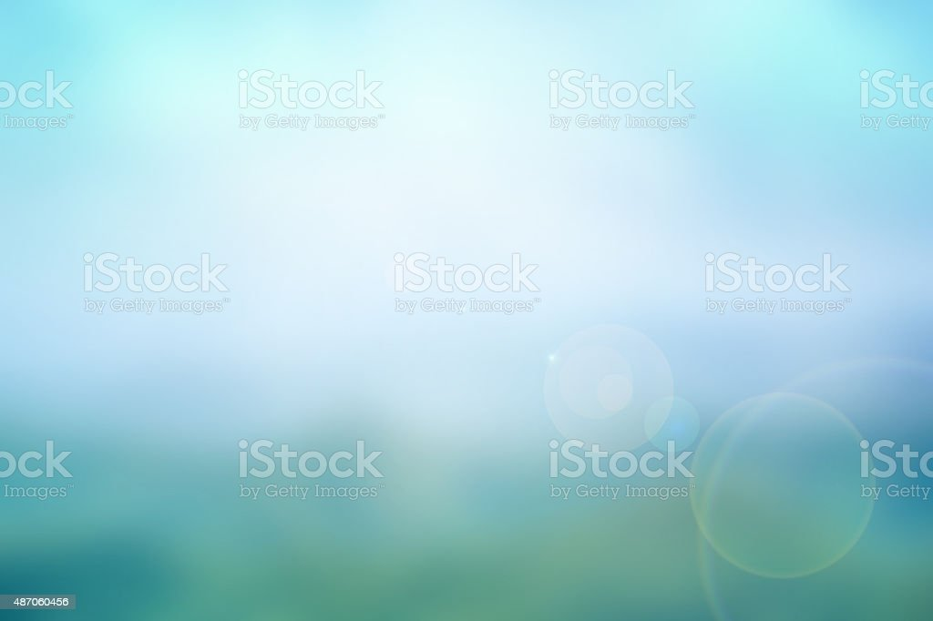 Abstract blue nature blurred background stock photo