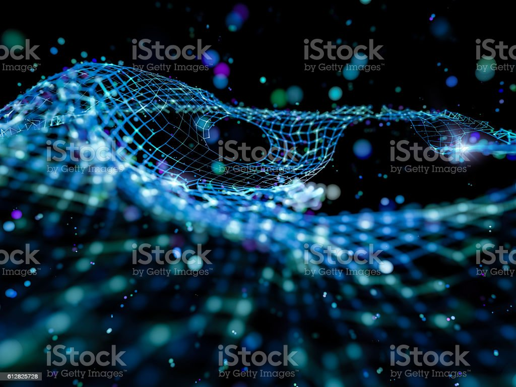 Abstract blue network structure stock photo