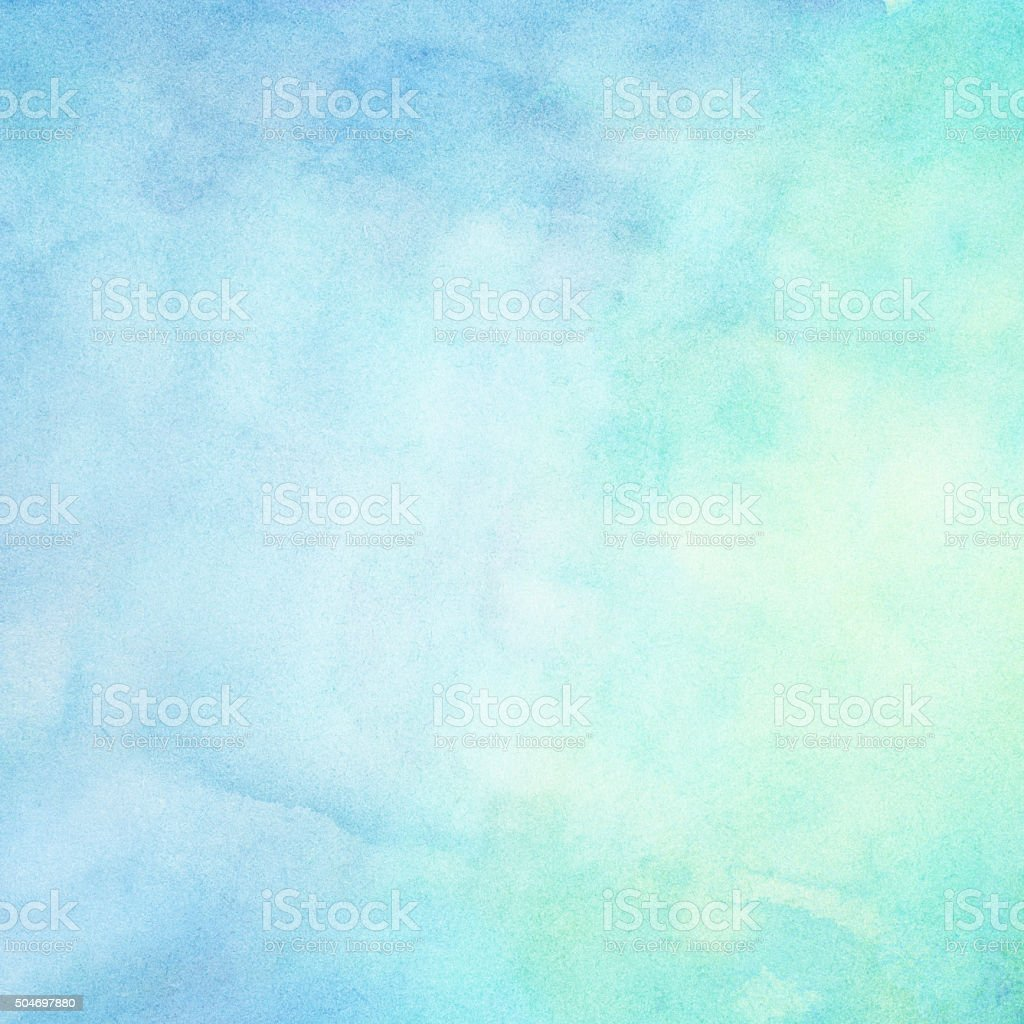 Abstract blue painted watercolor gradient for your design stock photo