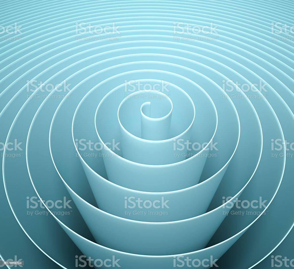 Abstract Blue spiral background stock photo
