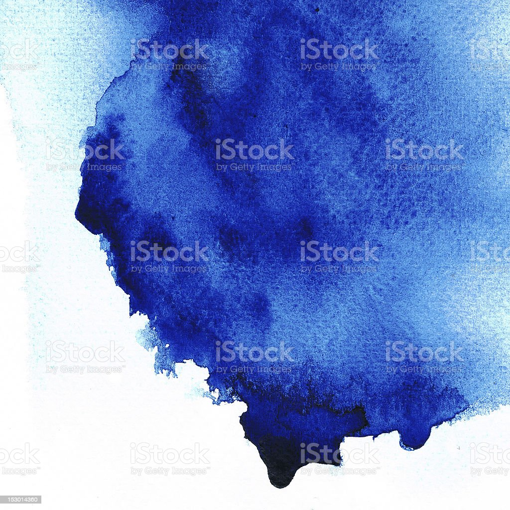 Abstract blue stain color. royalty-free stock photo