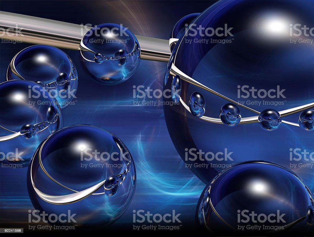 Abstract - Blue Swirl BG 3 royalty-free stock photo