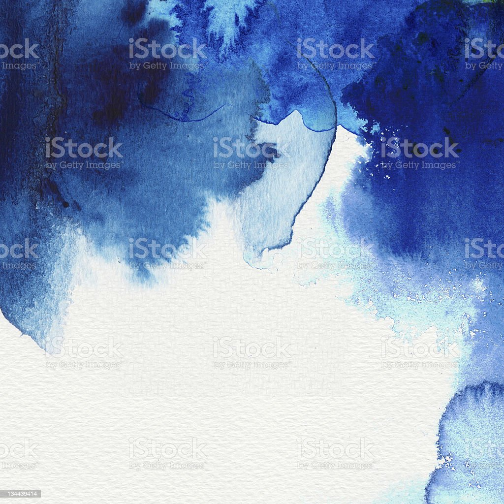 Abstract blue water colors and the shades that form royalty-free stock photo