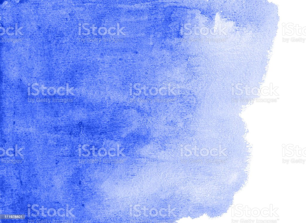 abstract blue watercolor background royalty-free stock photo