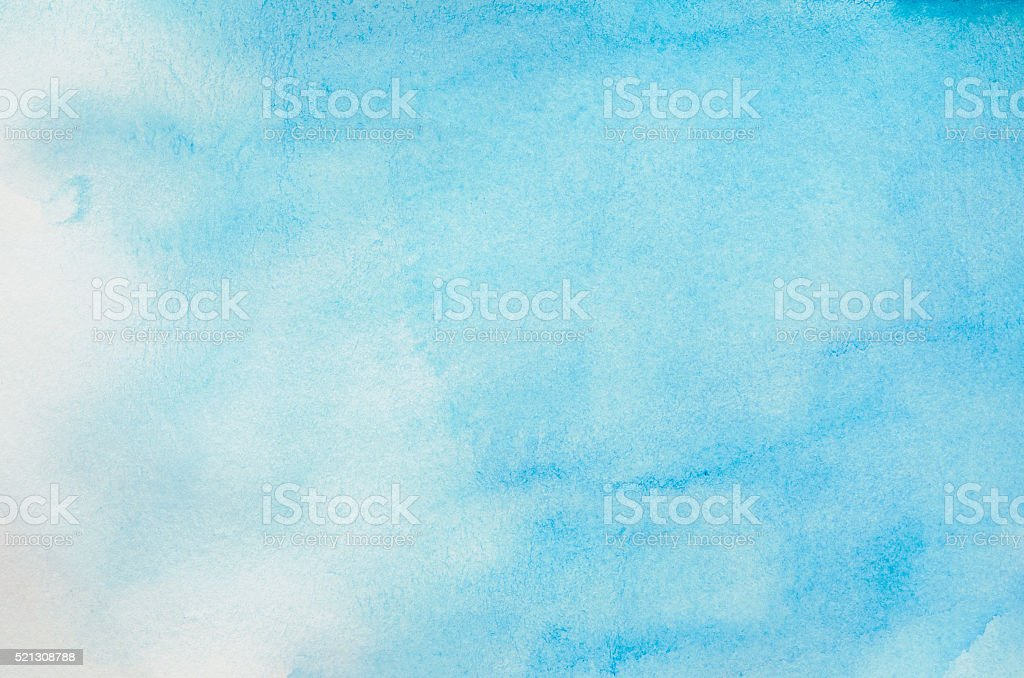 Abstract blue watercolor background stock photo