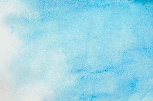 Watercolor pictures images and stock photos istock for Light sky blue paint