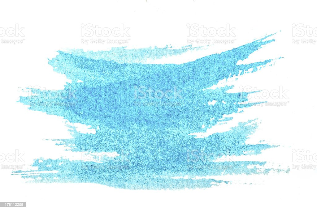 Abstract blue watercolor painted background. royalty-free stock photo