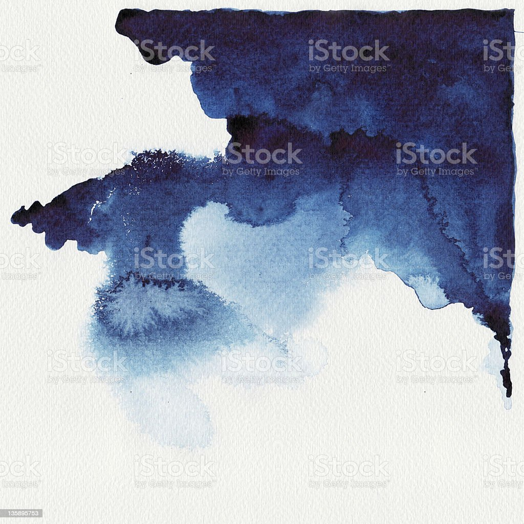 Abstract blue watercolor stock photo