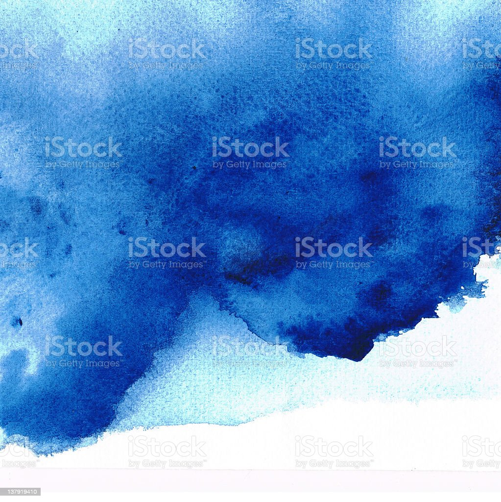 Abstract blue watercolor royalty-free stock photo