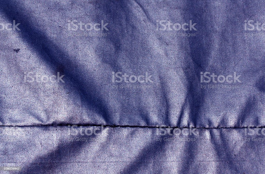 Abstract blue waterproof textile texture. stock photo
