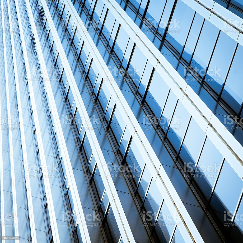 Abstract blue windows royalty-free stock photo