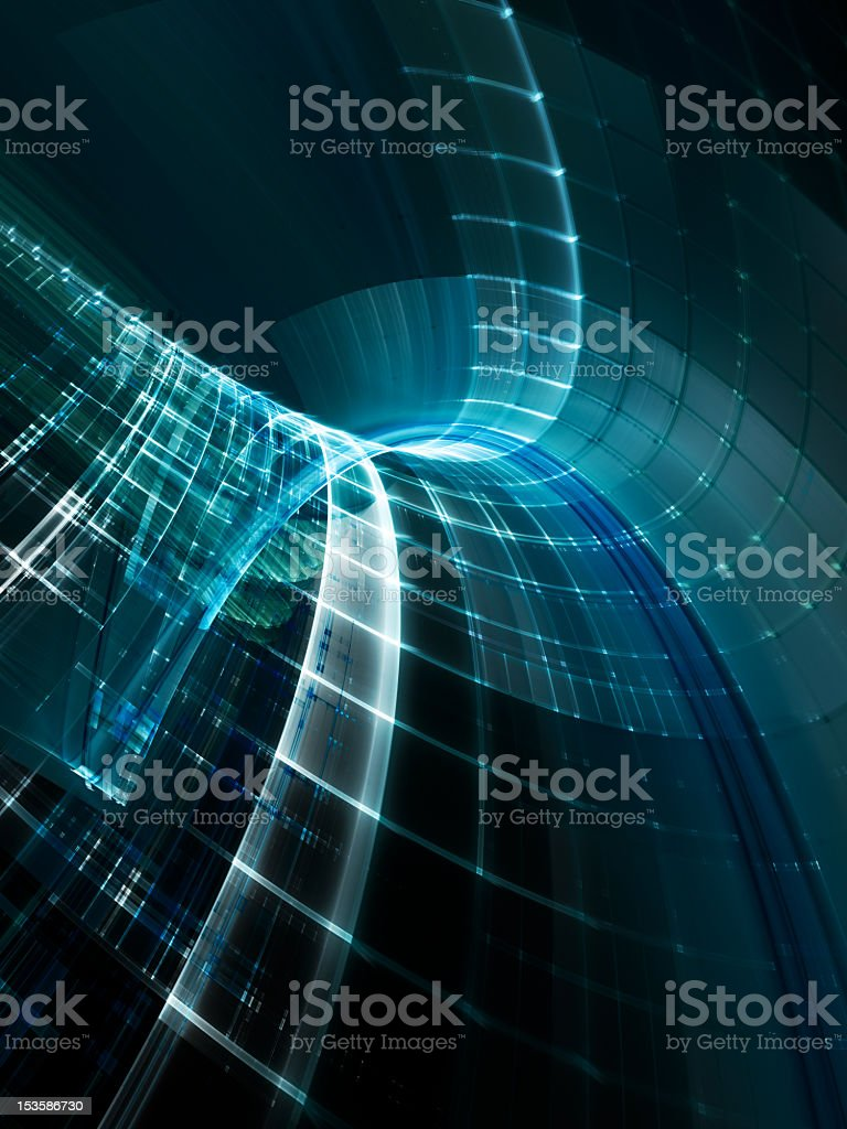 Abstract blue wire frame image royalty-free stock photo