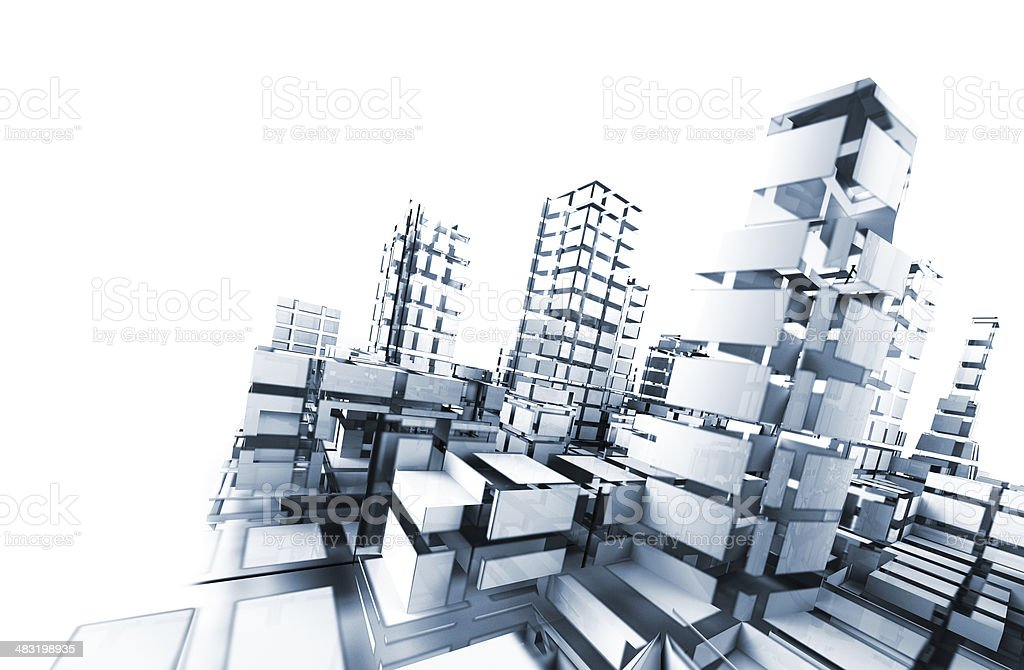 Abstract blueprint architecture stock photo