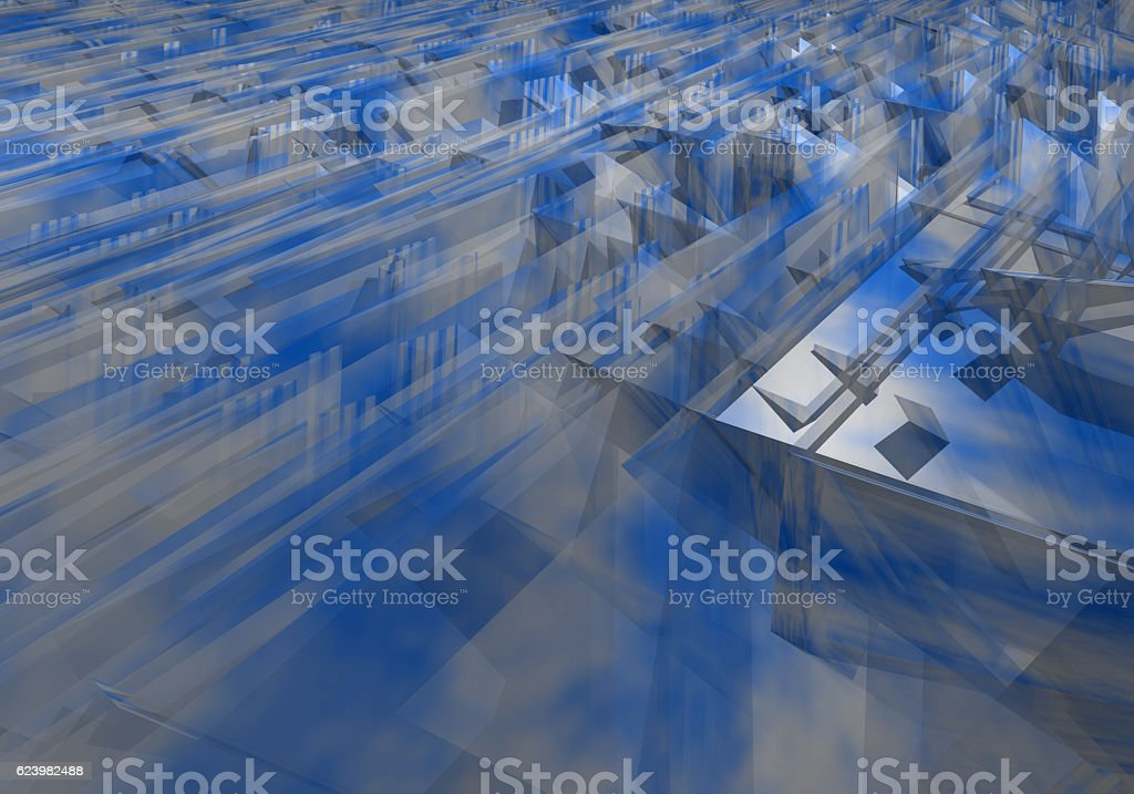 Abstract bluish background with jagged edges stock photo