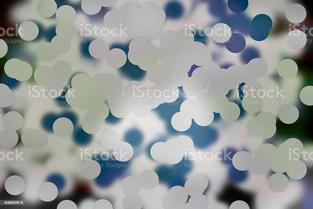 Abstract blur blue and white bokeh background stock photo