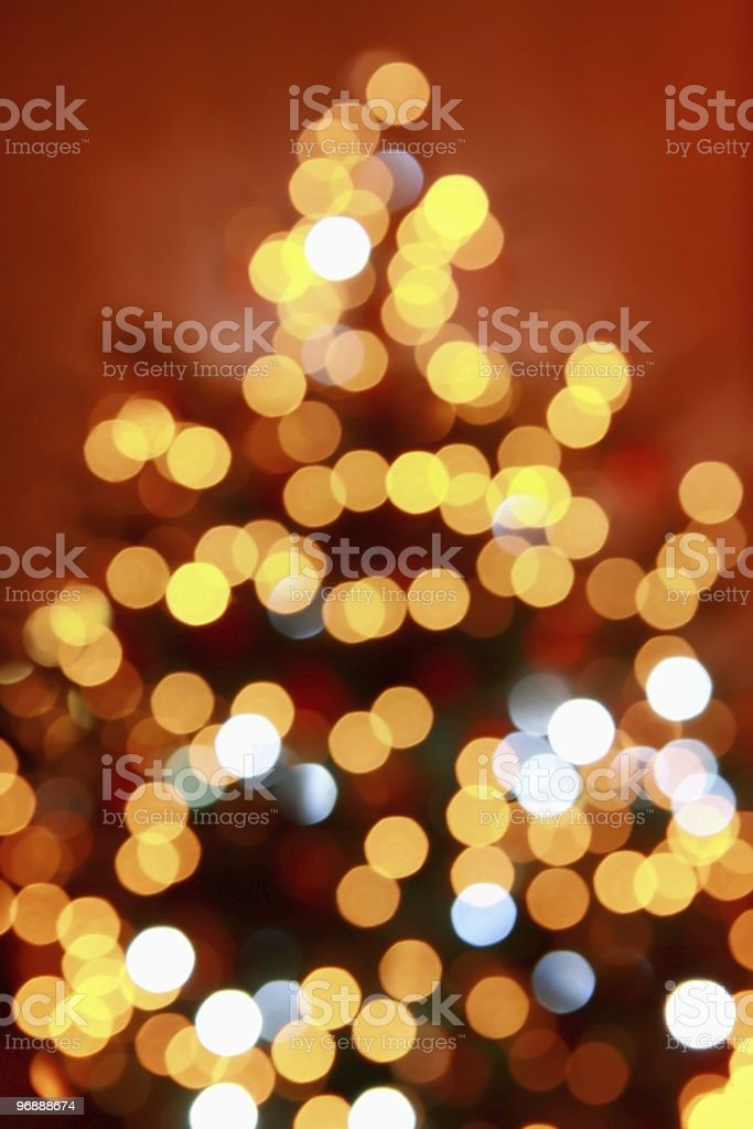 Abstract blur christmas tree stock photo