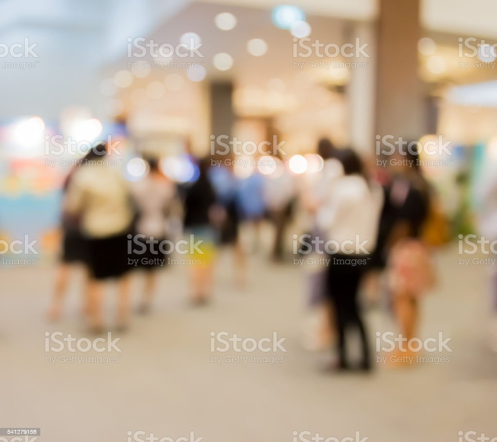 Abstract  blur people in press conference  event room, business concept stock photo