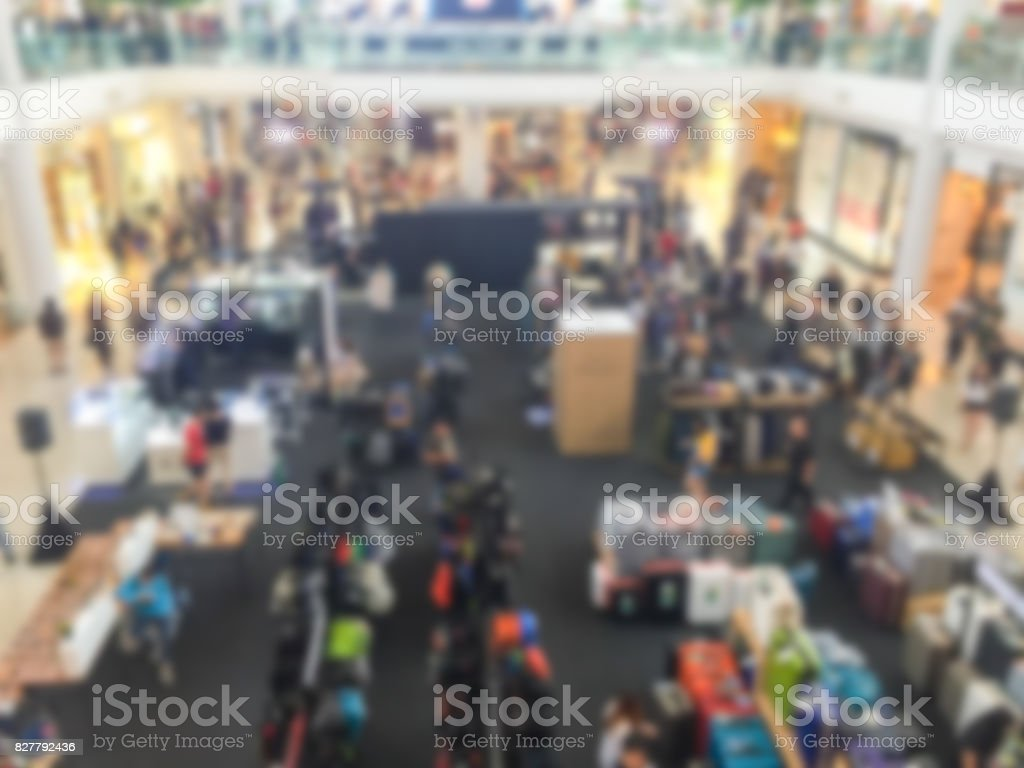 Abstract blur shopping mall and retails store stock photo