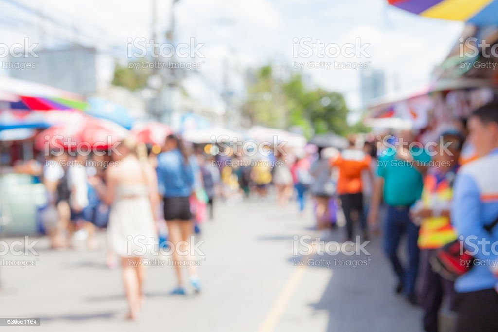 Abstract blur tourist shopping. stock photo