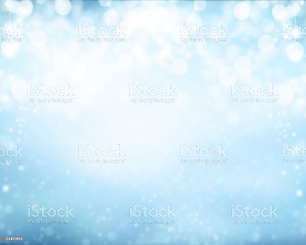 Abstract blur winter background stock photo