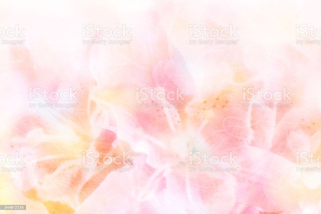Abstract blurred and soft focus on mulberry paper stock photo