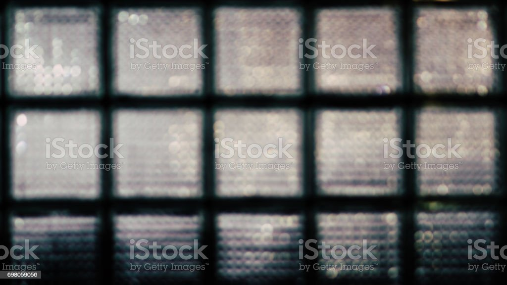 Abstract blurred background of glass block wall . 16:9 stock photo