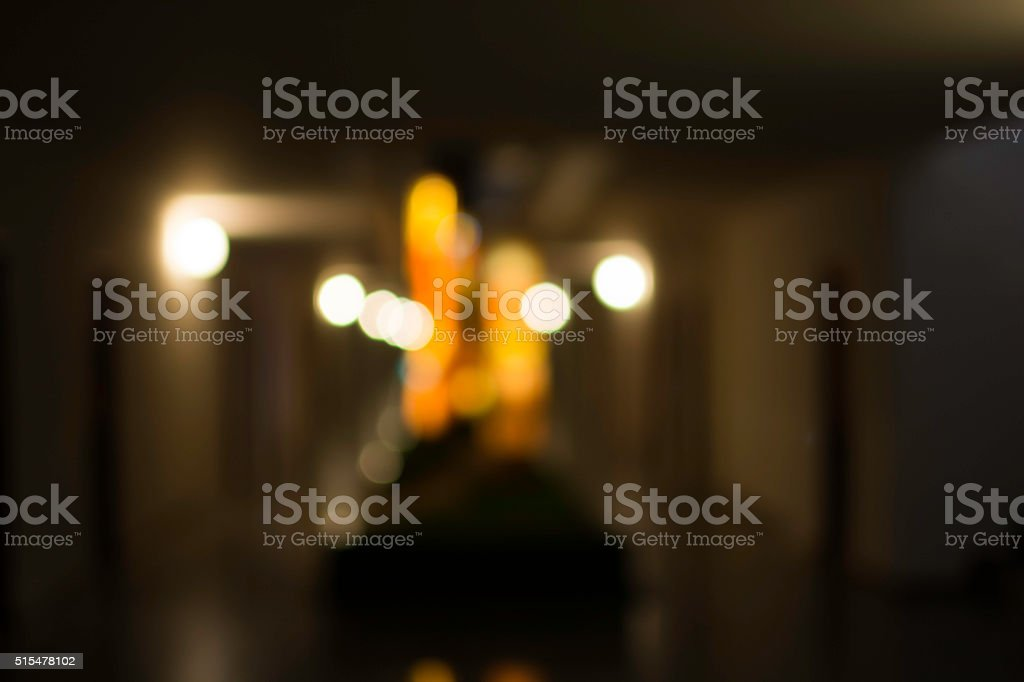 abstract blurred background of walkway lights in hotel, colorful royalty-free stock photo