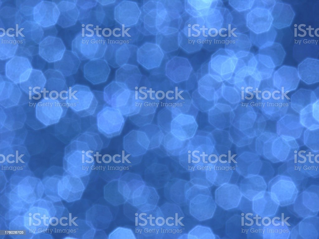 Abstract blurred blue background with diffuse heptagons royalty-free stock photo