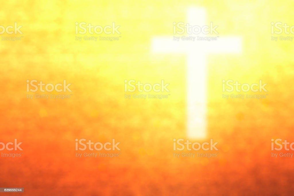 abstract blurred christ cross sign stock photo