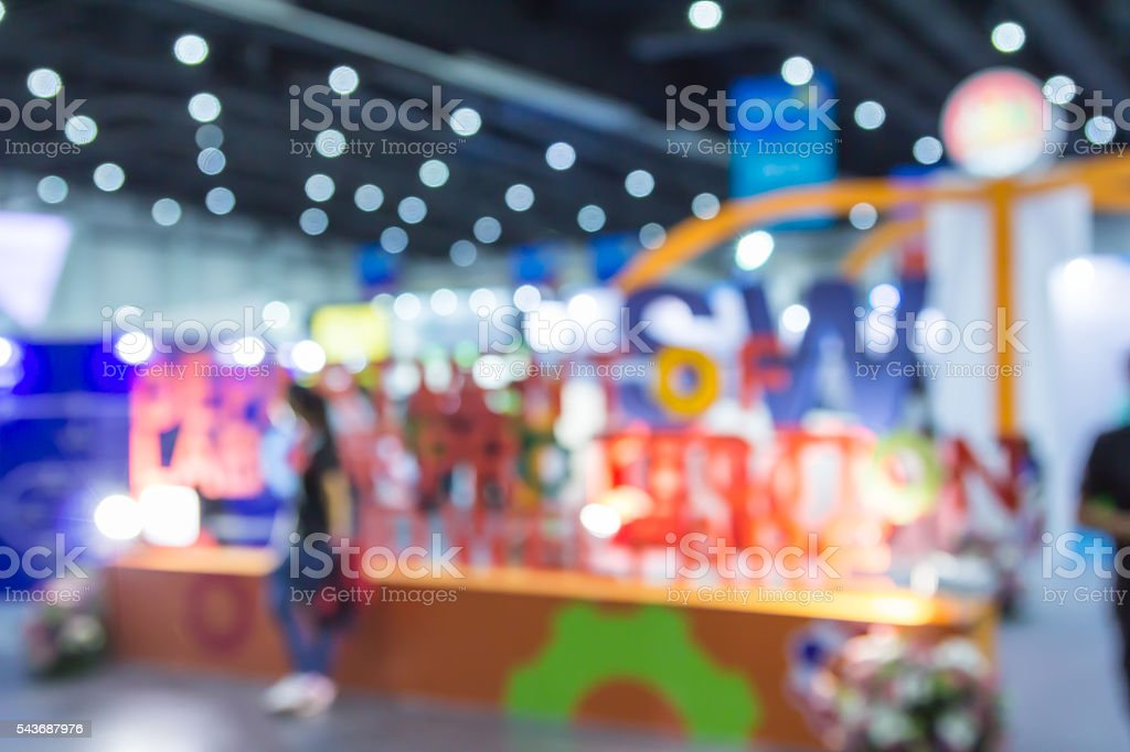 Abstract blurred event with people for the background. stock photo