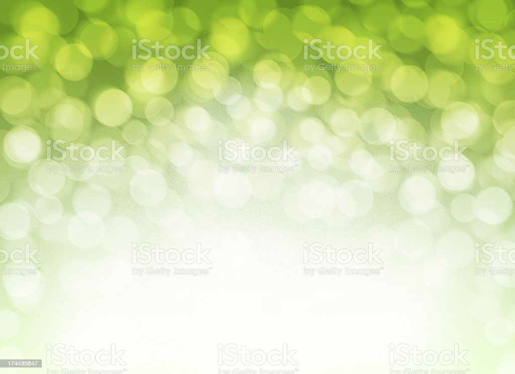 Abstract Blurred Green Defocused Lights Background stock photo