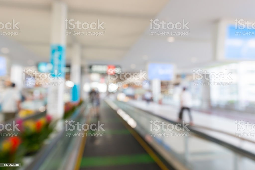 Abstract blurred of airport interior business transportation bac stock photo
