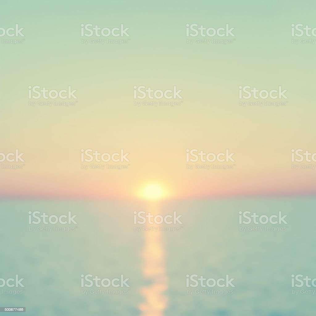 Abstract blurred seascape. Vintage style. stock photo