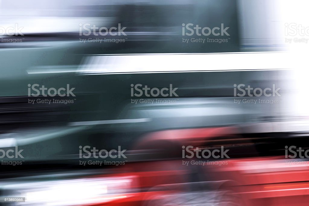Abstract blurred truck stock photo