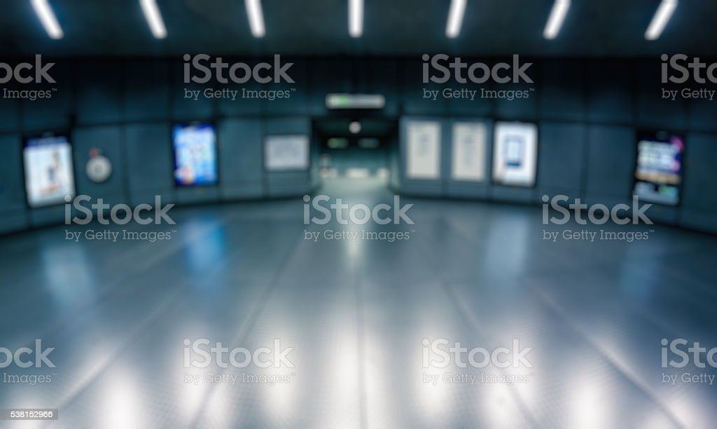 Abstract blurry background: Metro London stock photo