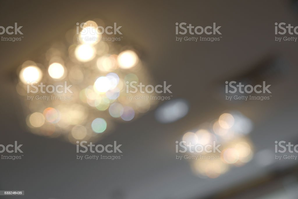 Abstract blurry colorful chanderlier stock photo