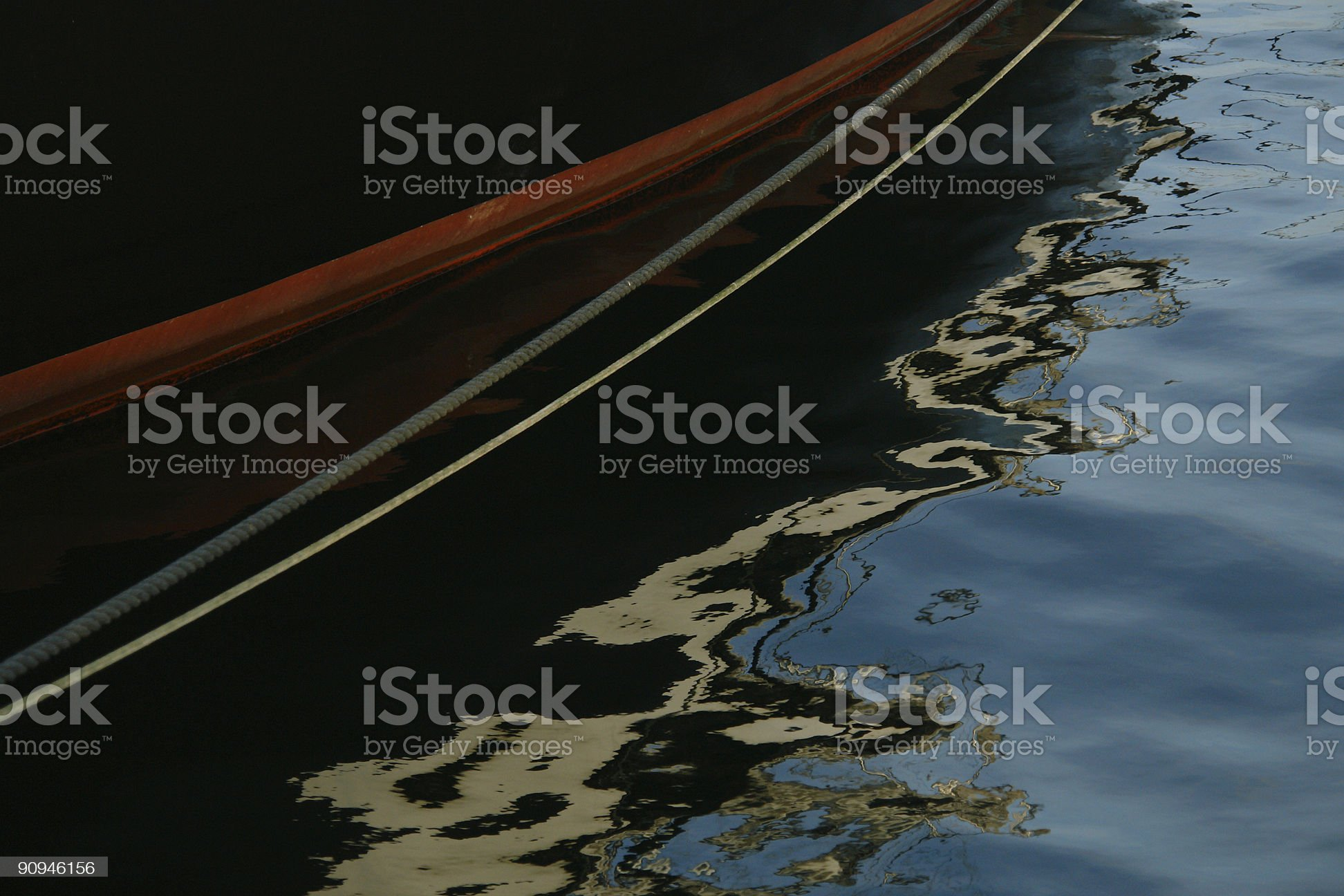 Abstract Boat Reflections royalty-free stock photo