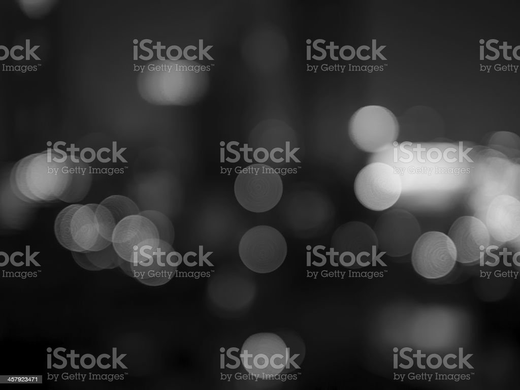 Abstract bokeh background (black and white shot) stock photo