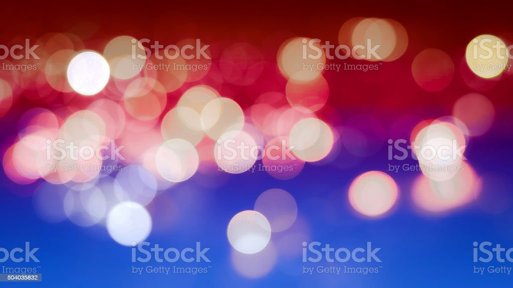 Abstract Bokeh Background with Defocused Lights stock photo