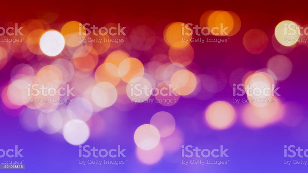 Abstract Bokeh Background with Real Defocused Lights stock photo