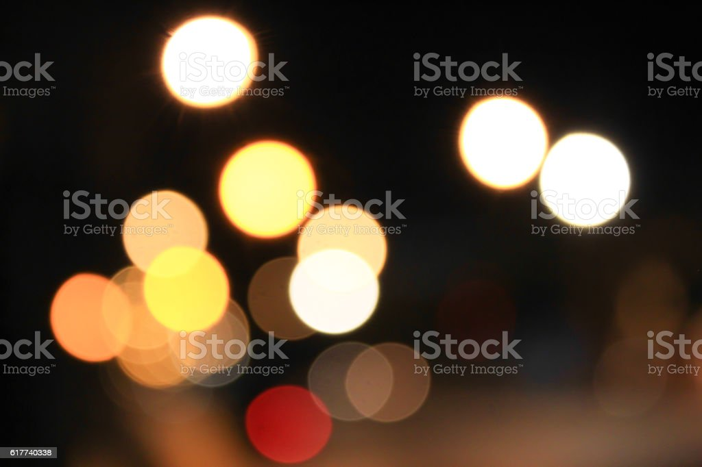 Abstract bokeh light cars background stock photo