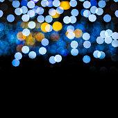Abstract Bokeh lights. Beautiful Christmas background.