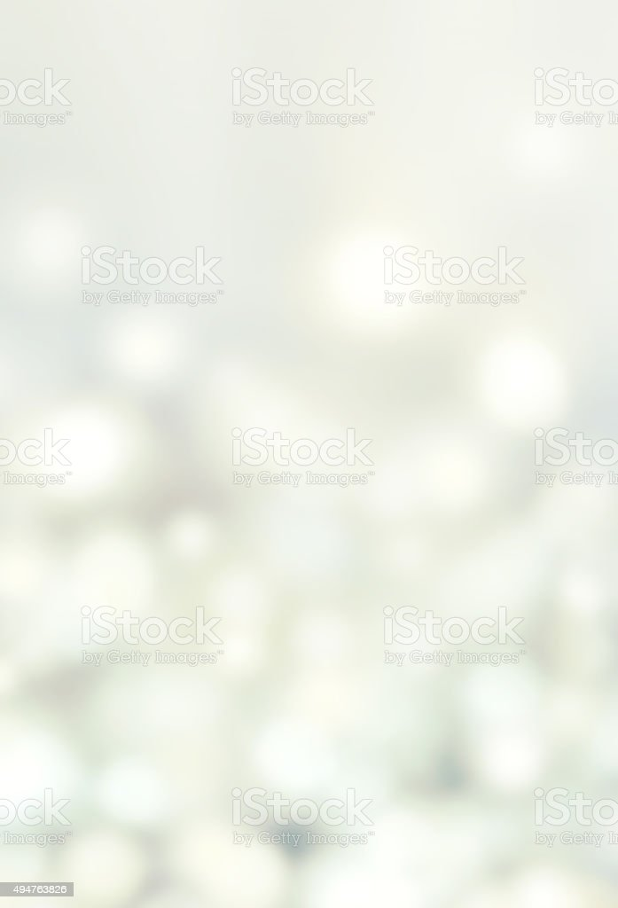 Abstract Bokeh Lights on grey background - circular reflections stock photo