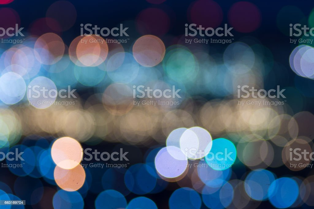 Abstract bokeh refinery or cityscape stock photo