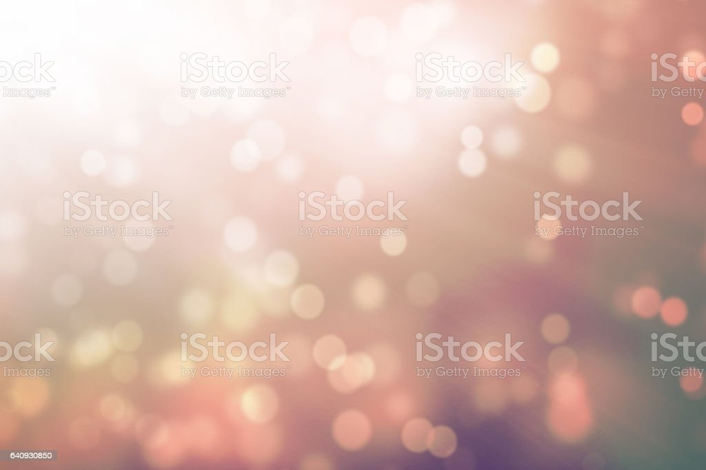 Abstract Bokeh With Light Rays stock photo