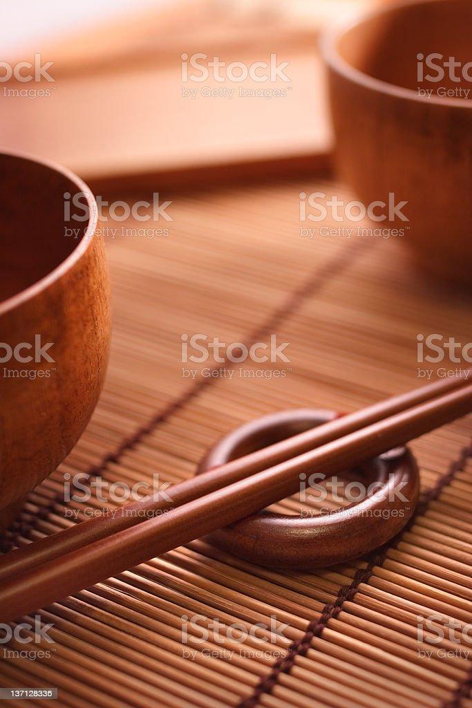 Abstract Bowl and Chopticks stock photo