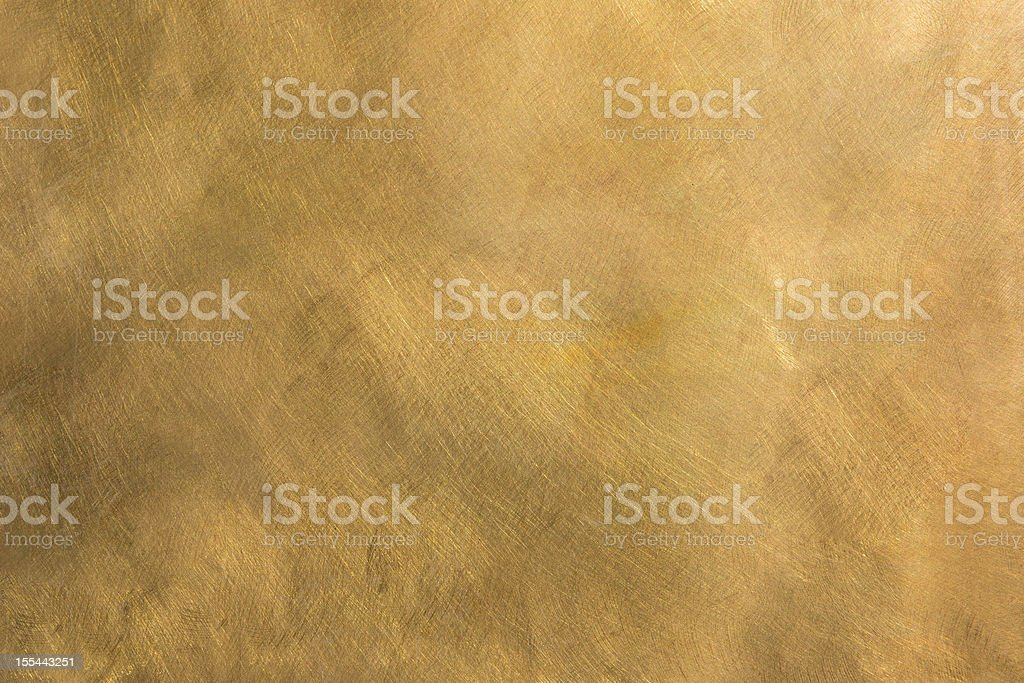 Abstract brass metal plate structured background XXL stock photo