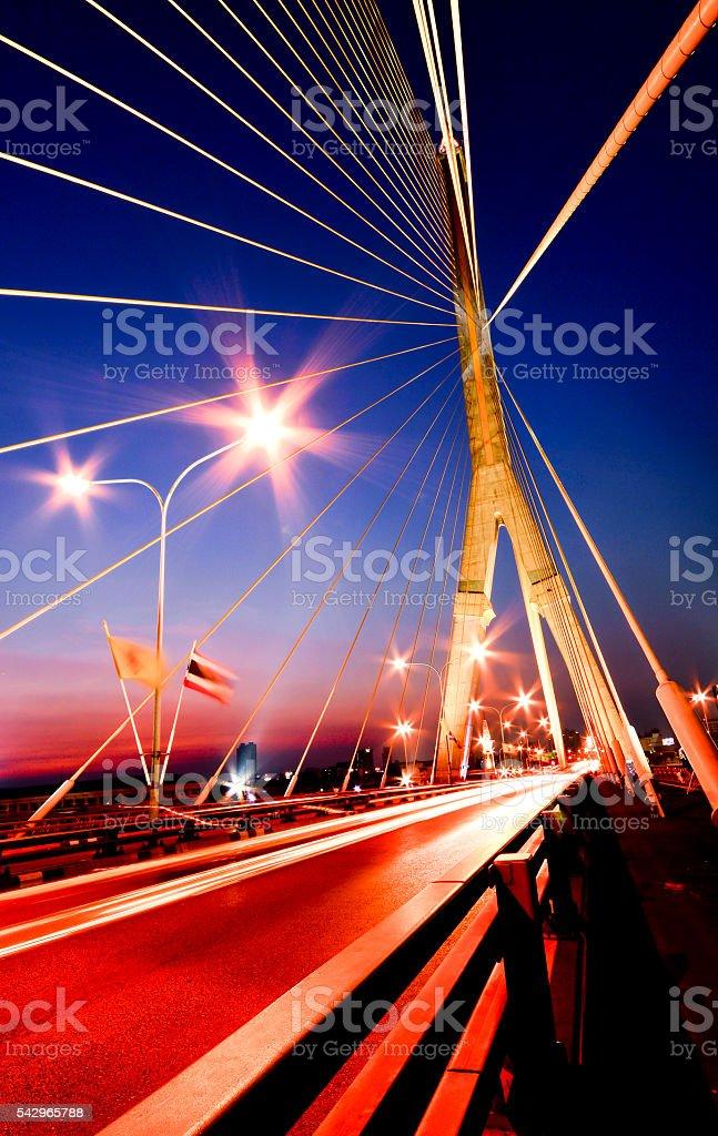 Abstract bridge stock photo
