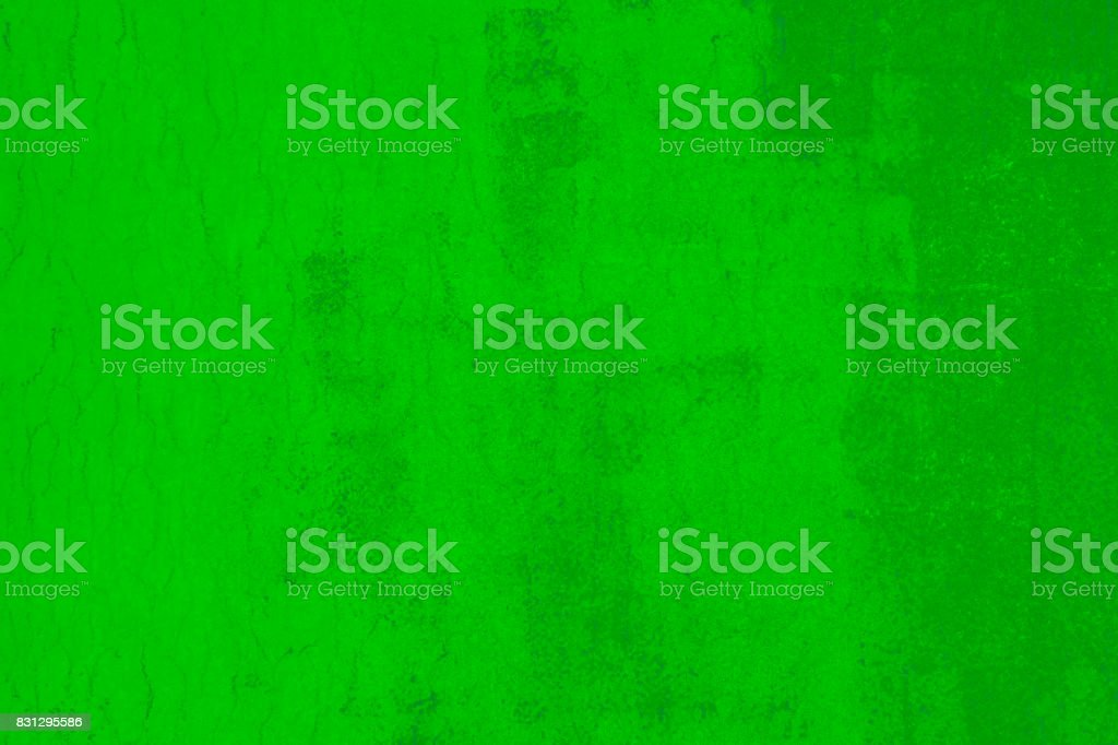 Abstract bright green grunge background of Old wall stock photo