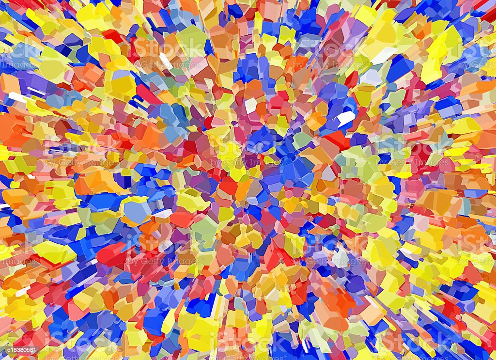 Abstract Bright Multicolored 3d particle Burst Backgrounds stock photo